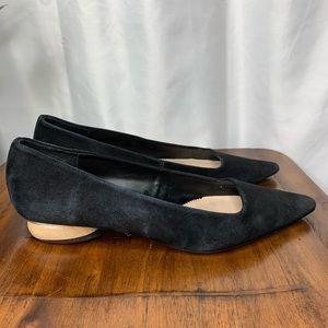 Zara Woman black flats pointy toe